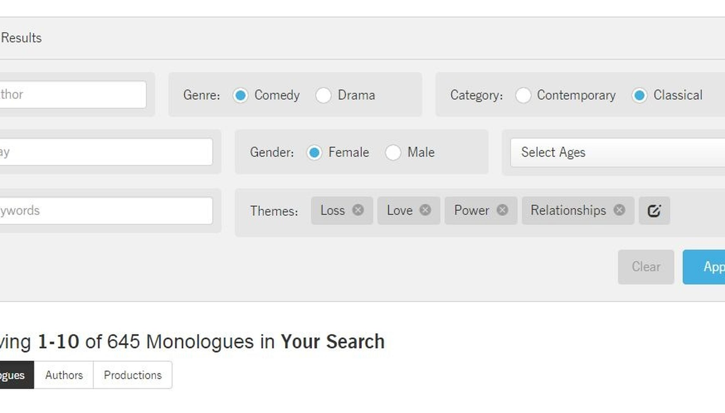 The Monologuer: Find the Perfect Monologue