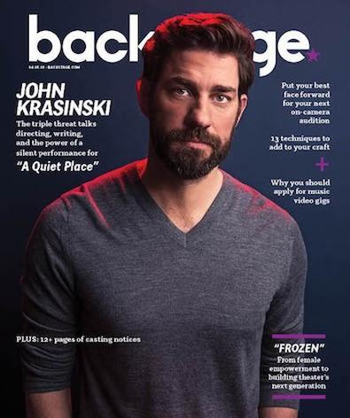 John Krasinski on the cover of Backstage Magazine