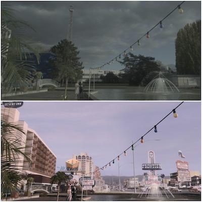 "Before and after VFX from ""The Queen's Gambit"""