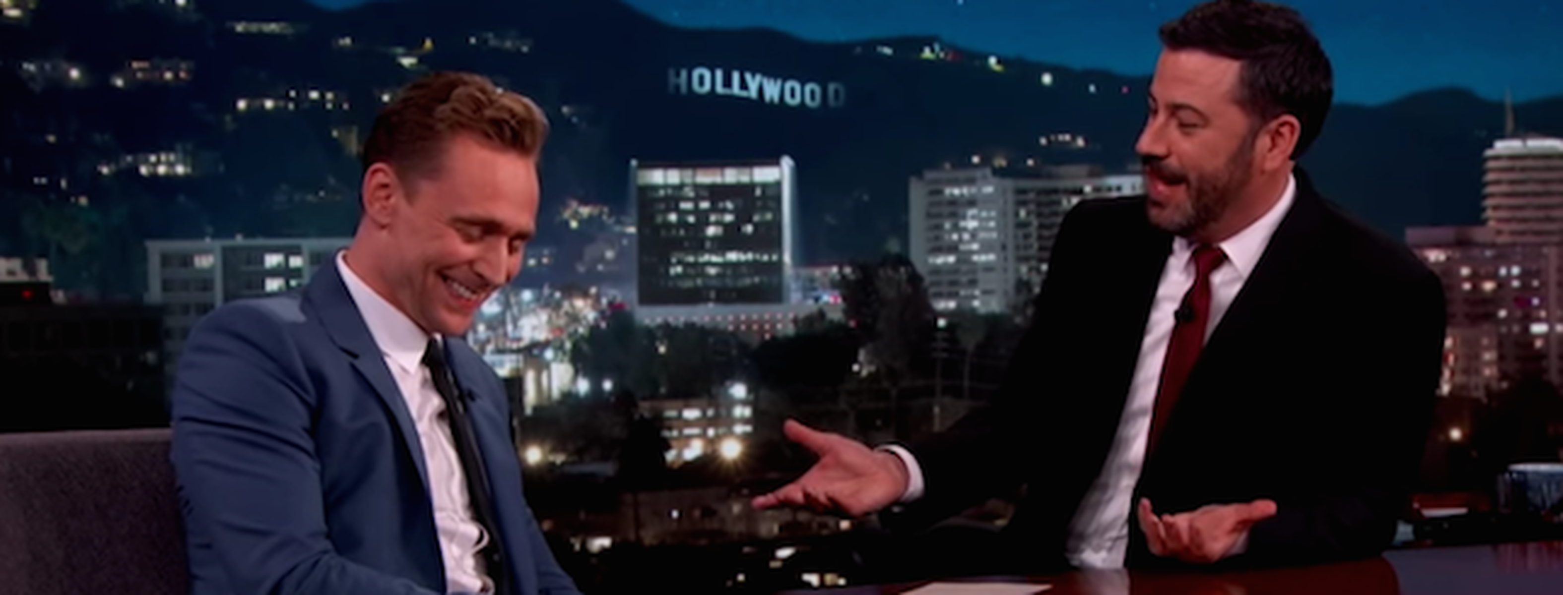 Watch Tom Hiddleston Yodels For Jimmy Kimmel