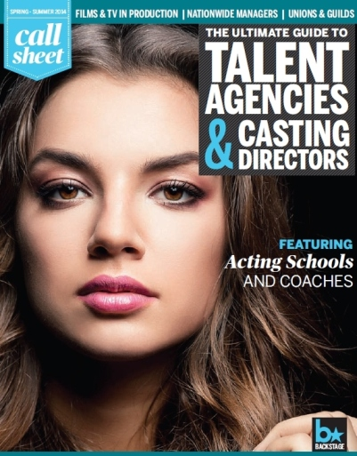 Call Sheet Cover - Spring 2014 - The Ultimate Guide to the Entertainment Industry