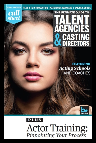 Call Sheet Cover - Spring 2014 - Acting School Tips