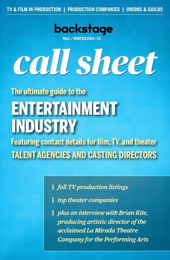 Call Sheet Cover - Fall 2014 - Theater Company Directory