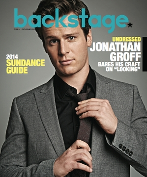 Jonathan Groff on Backstage Magazine cover