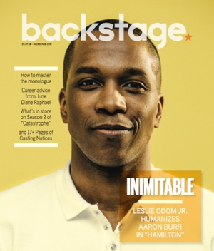 Leslie Odom Jr on the cover of Backstage Magazine