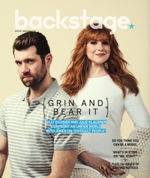 Billy Eichner and Julie Klausner Backstage Cover