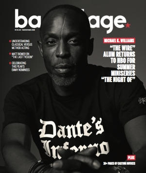 Michael K. Williams on the cover of Backstage Magazine