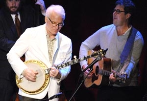 Steve Martin Hits Road with Banjos, and Some Jokes