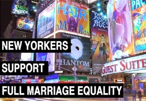 Broadway Actors Support N.Y. Equality Campaign