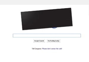 Google and Wikipedia Lead Blackouts to Halt Anti-Piracy Bills SOPA and PIPA