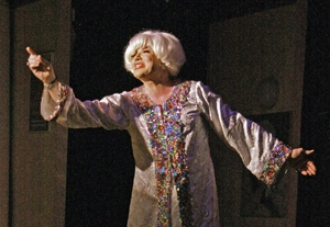 Richard Skipper as 'Carol Channing' in Concert