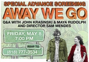 L.A. Screening of 'Away We Go' Announced