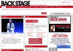New Features on the Back Stage Website