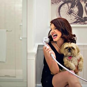 Cassie Vail Yeager - shower handle dog scream