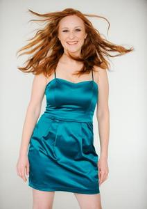 Carrie Lee Martz - Advertising Model Cover Girl Windblown Red Hair Smile