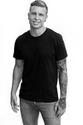 Dom Kegel - Dom 3 quarters smile BW