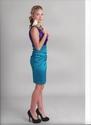 Cydney Caldwell - purple and green dress