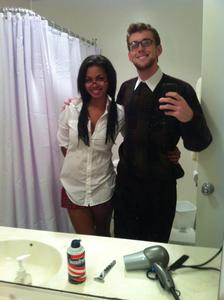 Danielle Whitfield - My boyfriend and I on Halloween