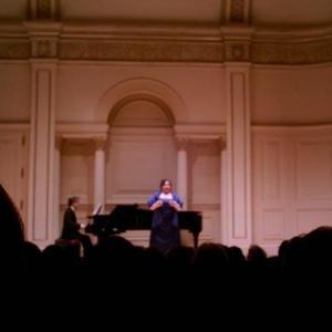 Lucia Palmieri - Carnegie Hall