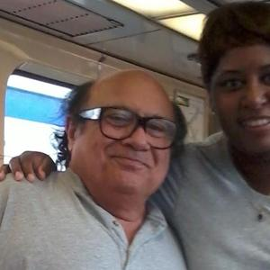 Tracey Johnson - On the set of the tv show It's Always Sunny In Philadelphia, me with Danny Devito