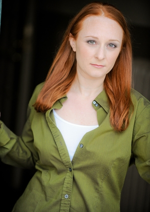 Carrie Lee Martz - Theatrical Theatre Red Hair Hazel Eyes Green Blouse
