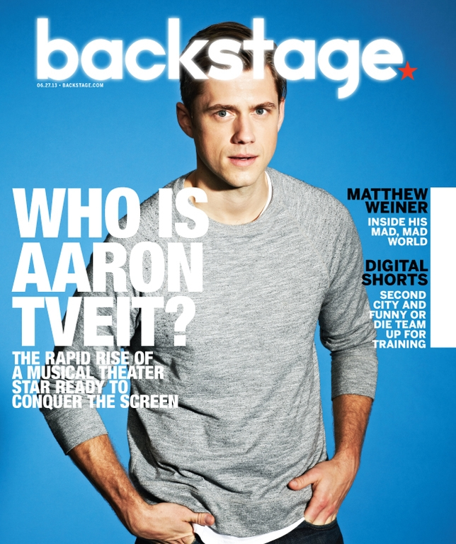 Aaron Tveit On the Cover of Backstage This Week!