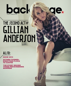 Gillian Anderson On the Cover of Backstage This Week!