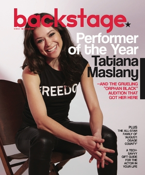 Backstage's Performer of the Year, 'Orphan Black' Star Tatiana Maslany, On the Cover This Week!