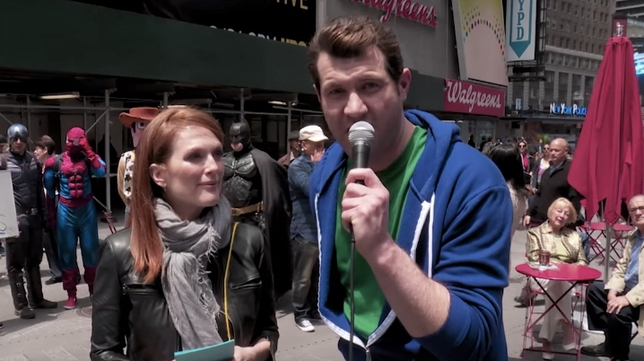 WATCH: Julianne Moore Cries on 'Billy on the Street'