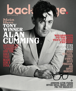 Alan Cumming On the Cover of Backstage This Week!