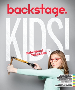 Bebe Wood on the Cover of Backstage Kids' Issue!