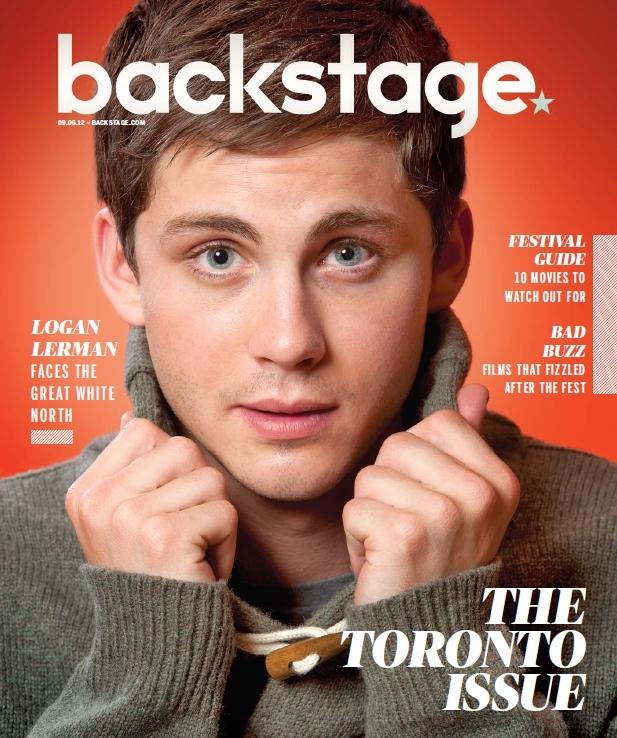Logan Lerman in Backstage: Sept. 06, 2012