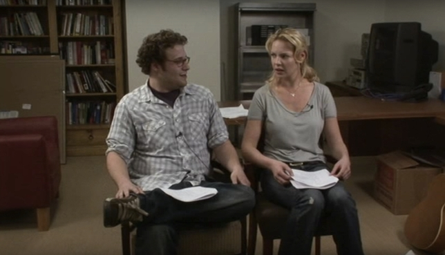 WATCH: Katherine Heigl and Seth Rogen Audition for 'Knocked Up'