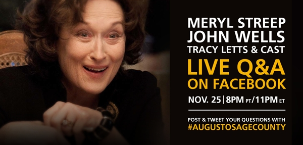 Sponsored: Catch a Live Screening and Q&A With the Cast of 'August: Osage County'