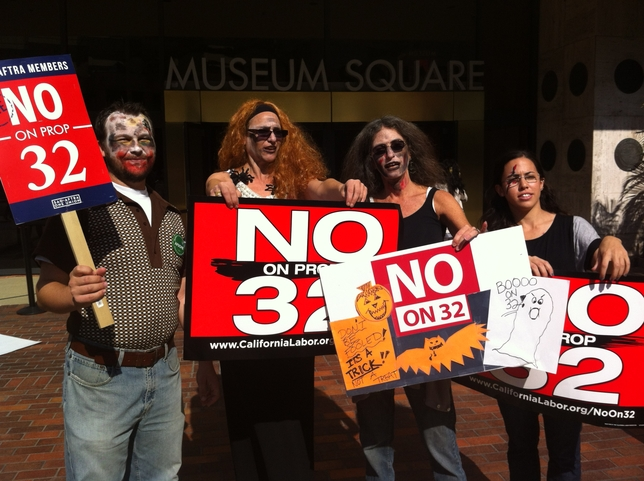 SAG-AFTRA Zombie Walk Against Prop. 32 (SLIDESHOW)